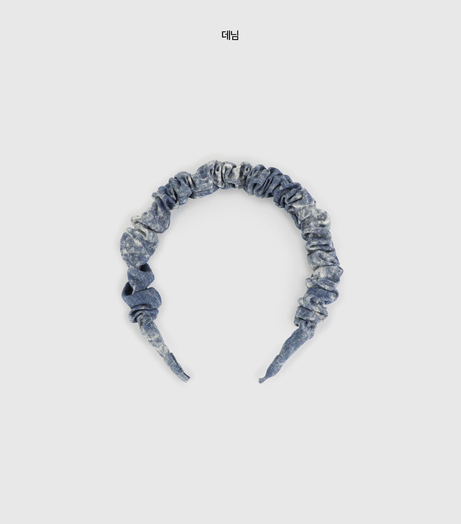 Denim Wrinkle Hair Band