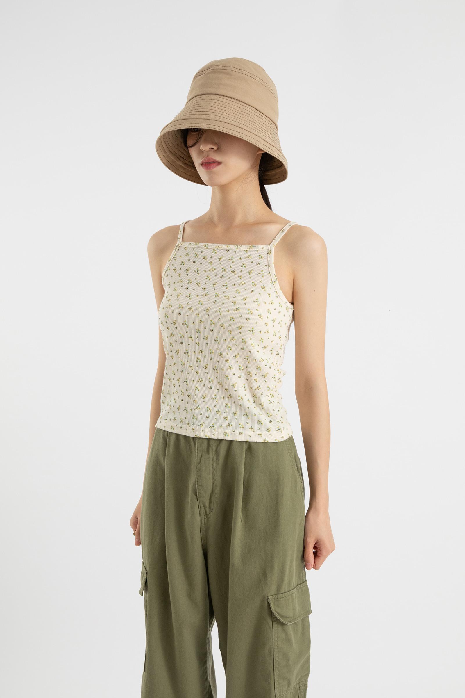 Floral slim sleeveless top