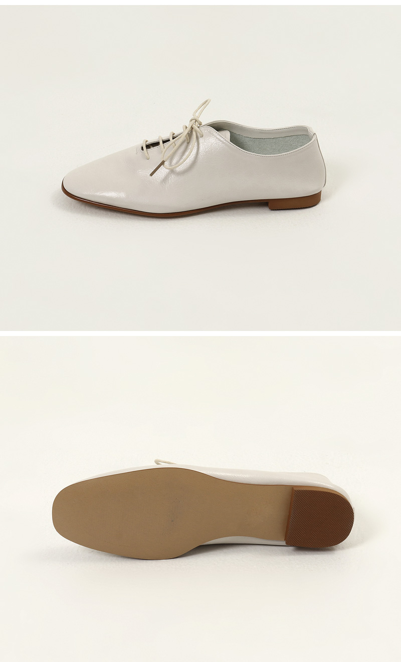 Suede oxford flat loafers