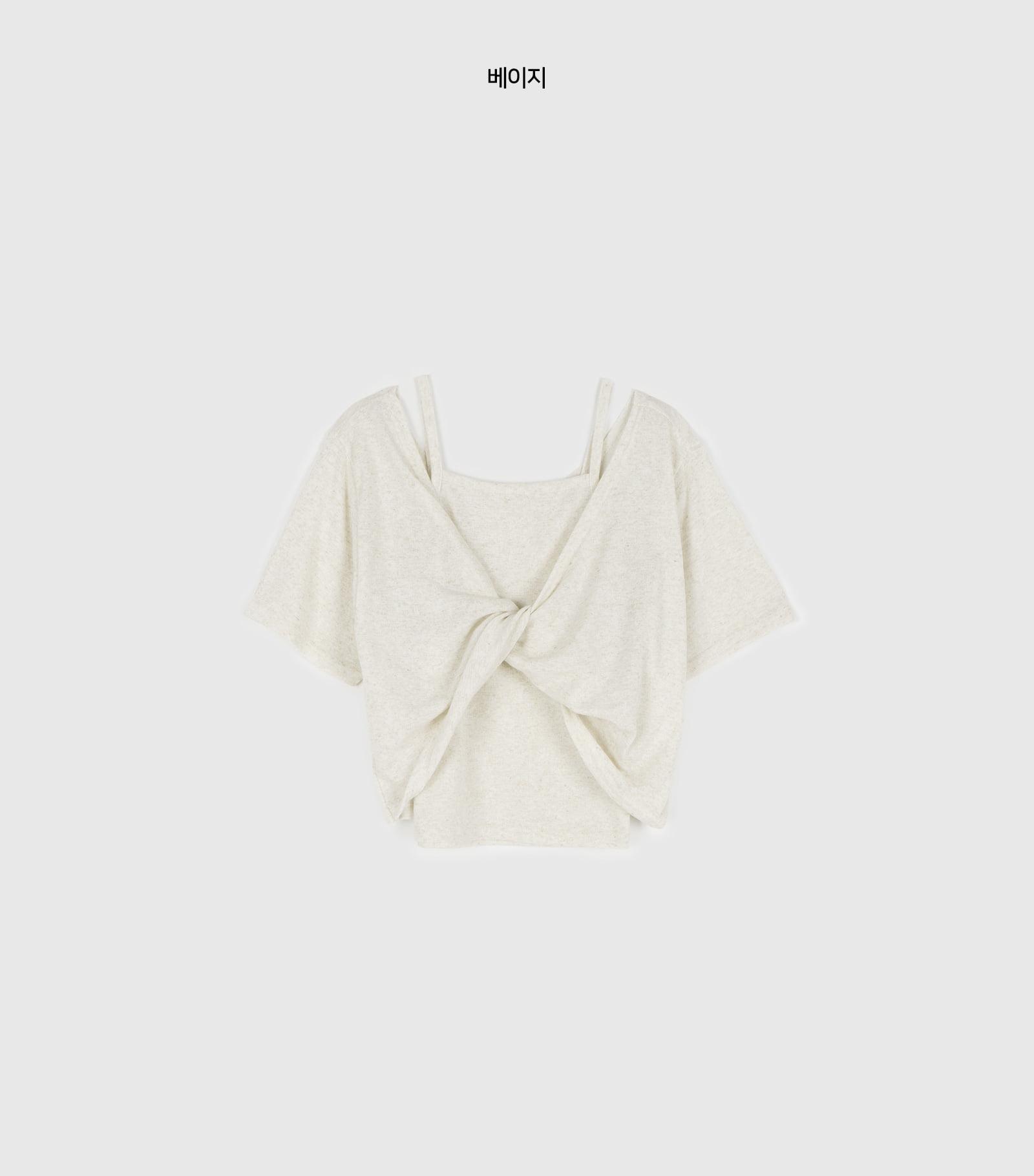 Linen twist set t-shirt