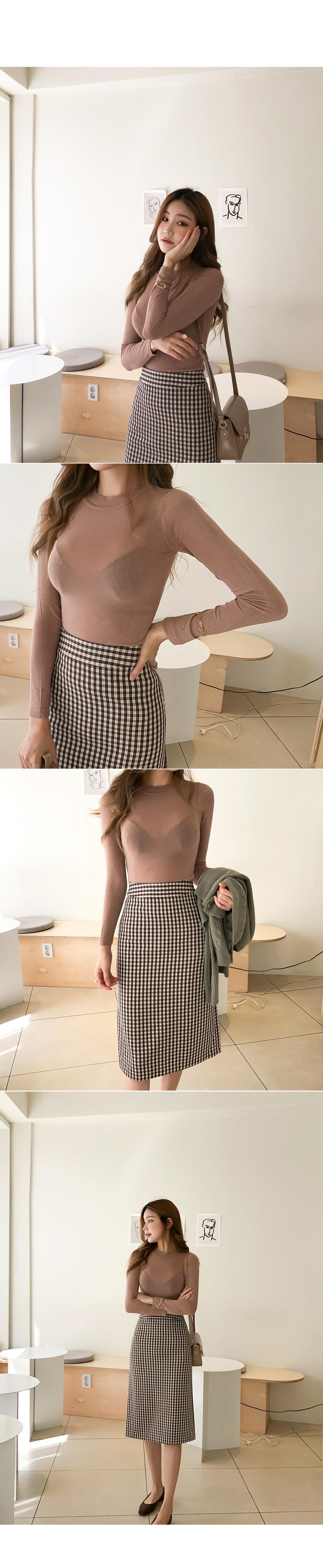 Pretty color check skirt