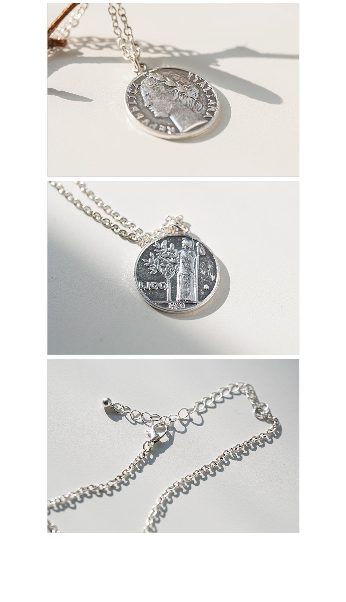 Face Coin Long Necklace #85958