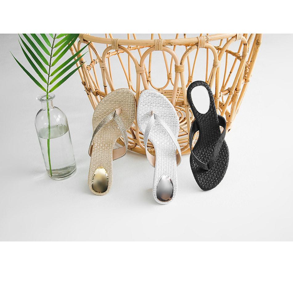 Jewelry box split mule slippers 5cm