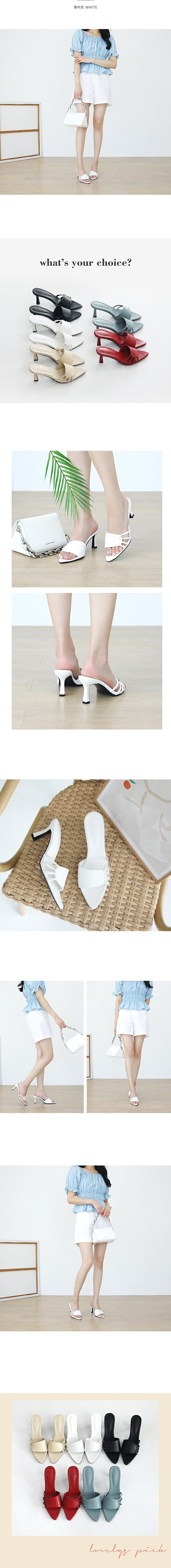 Kelly Mule slippers 7 cm