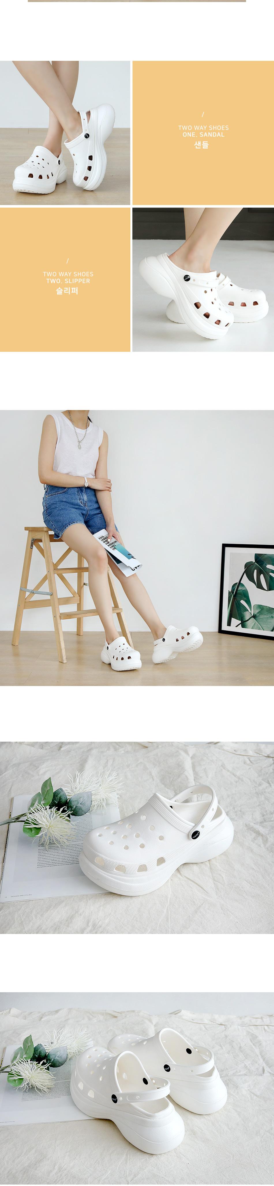 Croton 2 way sandals 6 cm