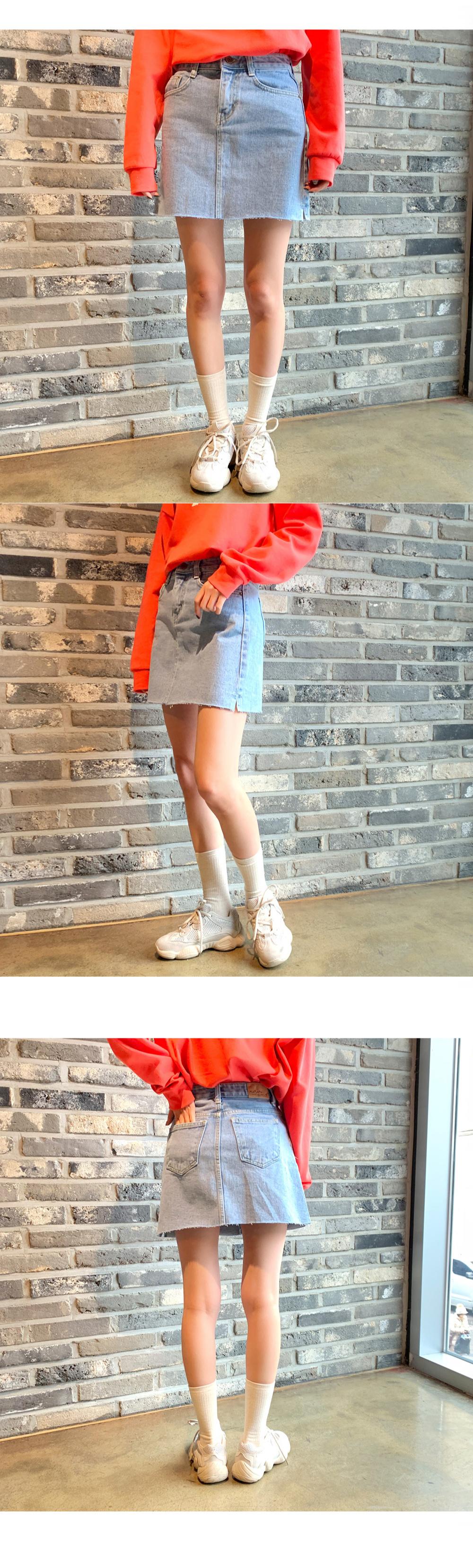 T-line denim skirt