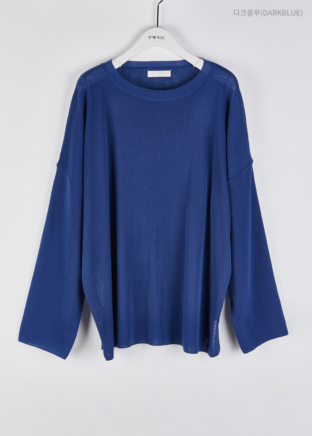See-through overfit knit