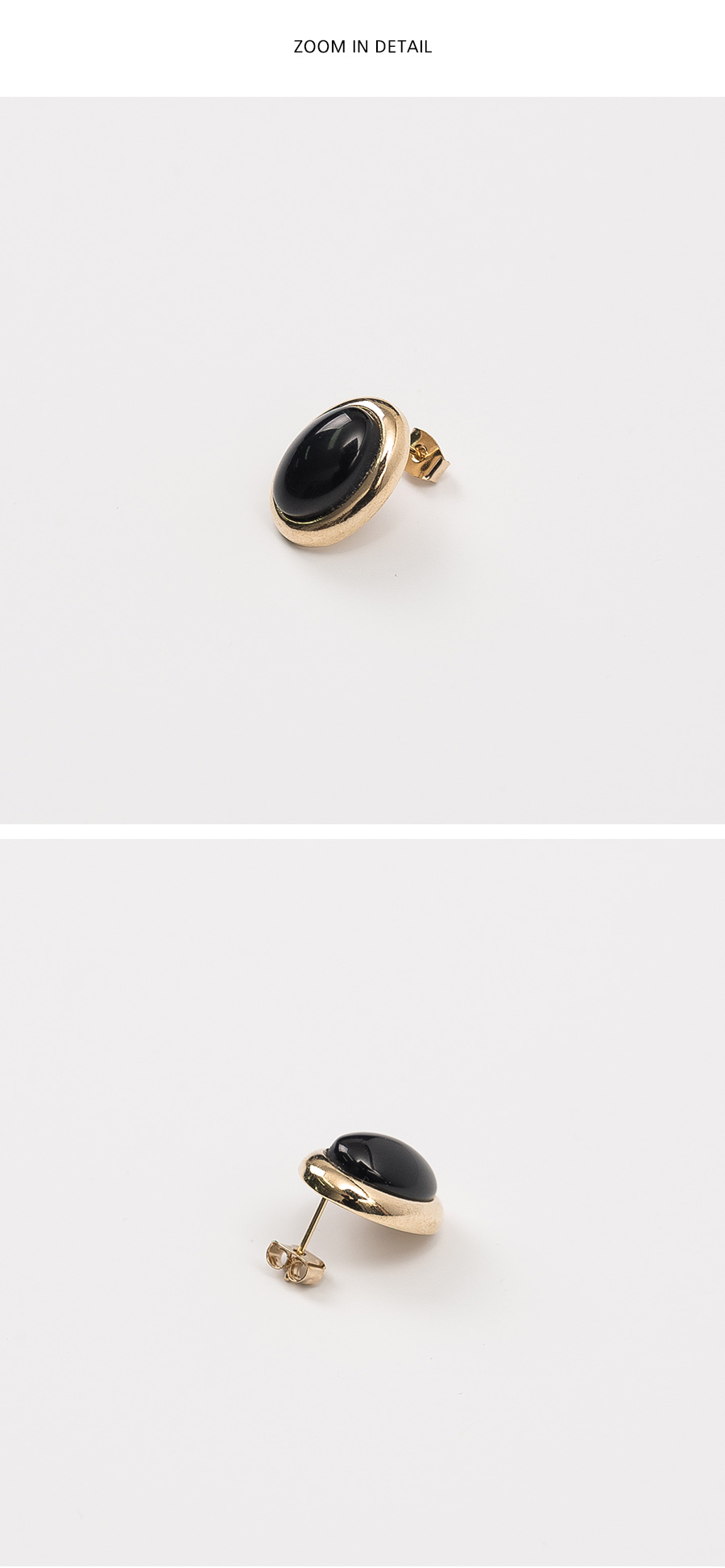 minimal point earring