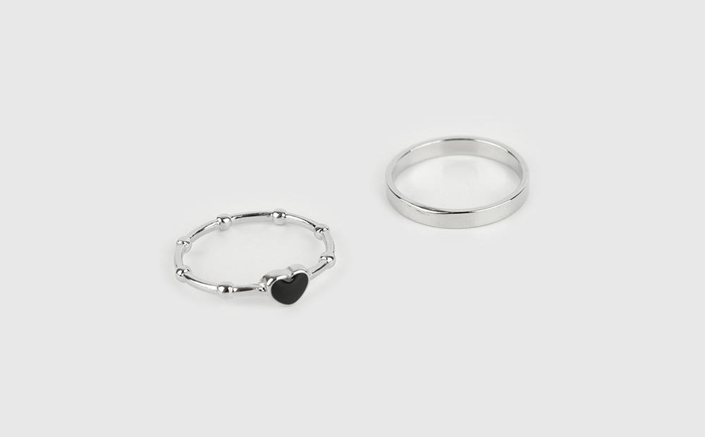 Heart Wrinkle Set Ring