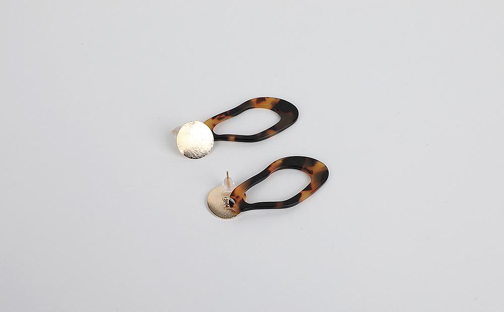 Gold-prom marbling drop earrings