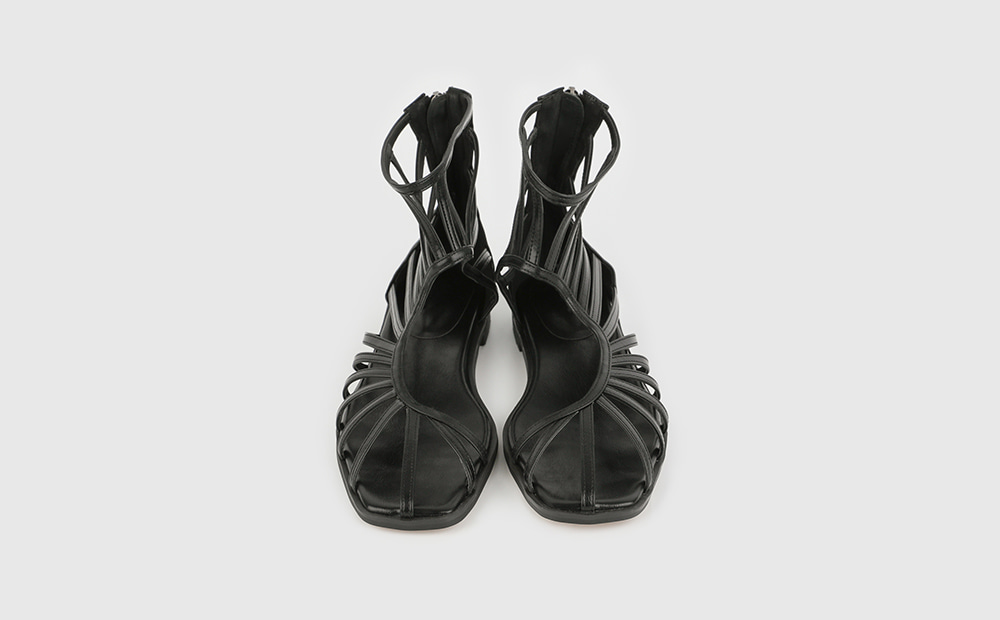 Snake strap flat sandals