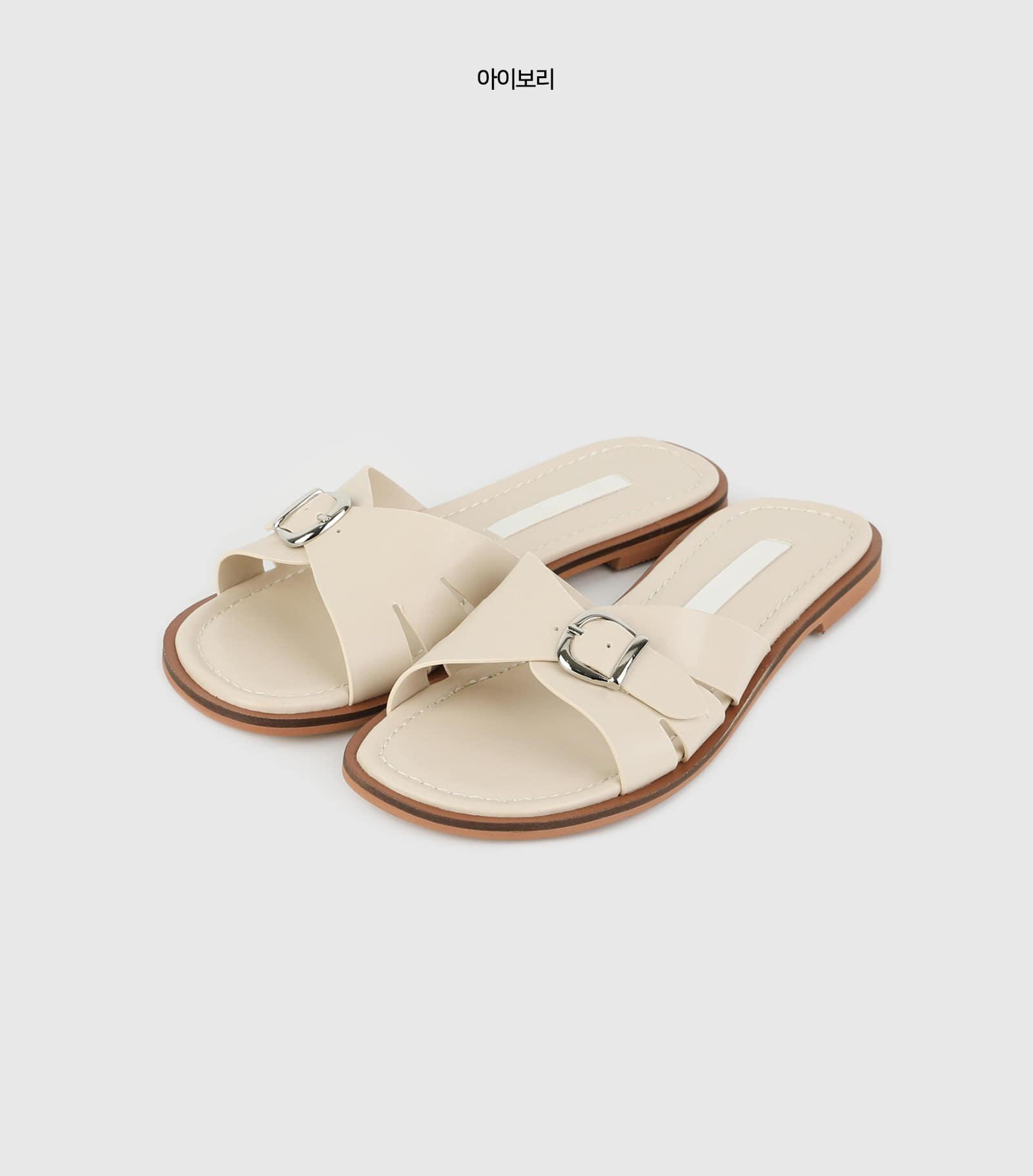 Labyrinth buckle flat sandals