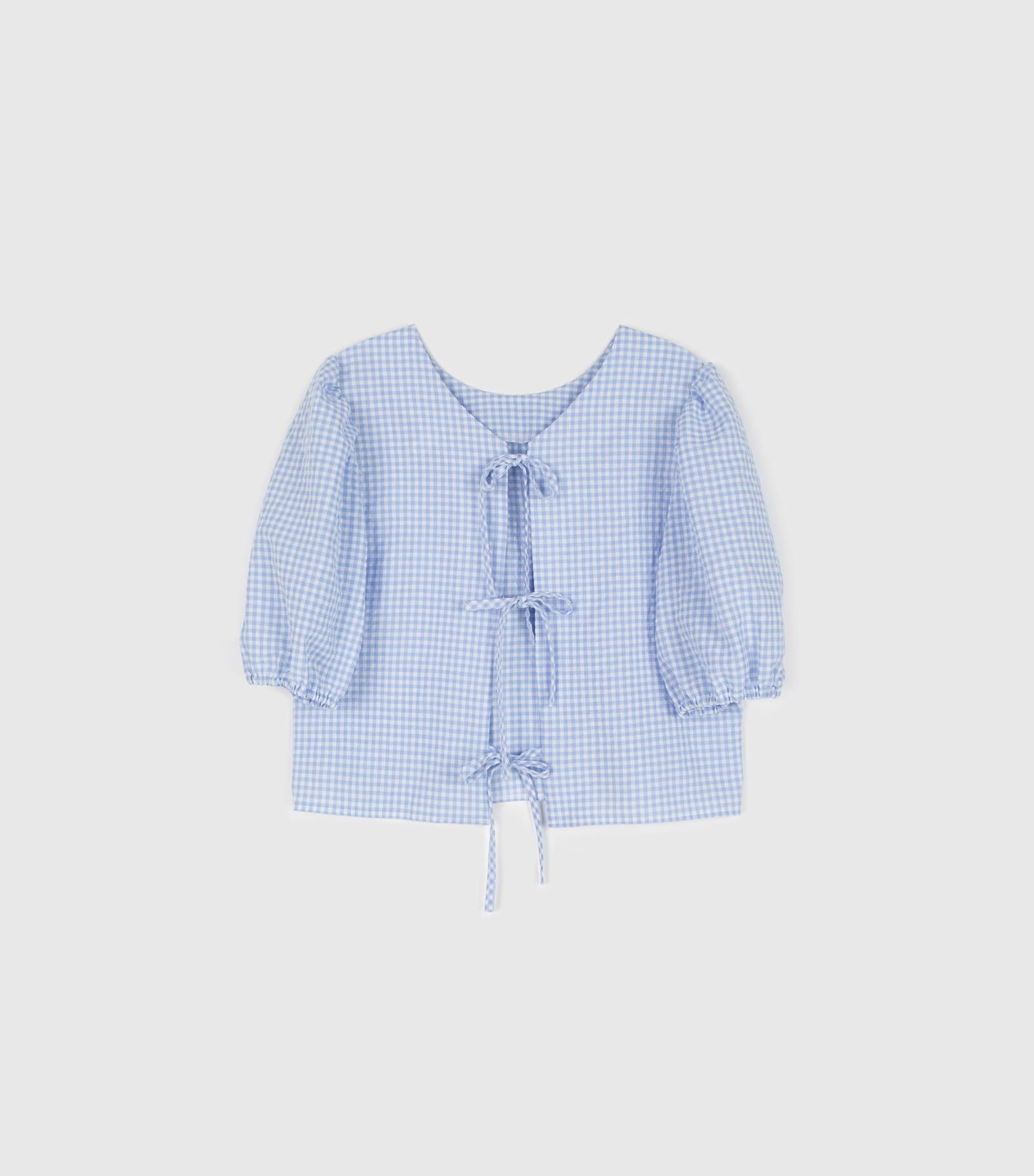 Picnic bag strap puff blouse