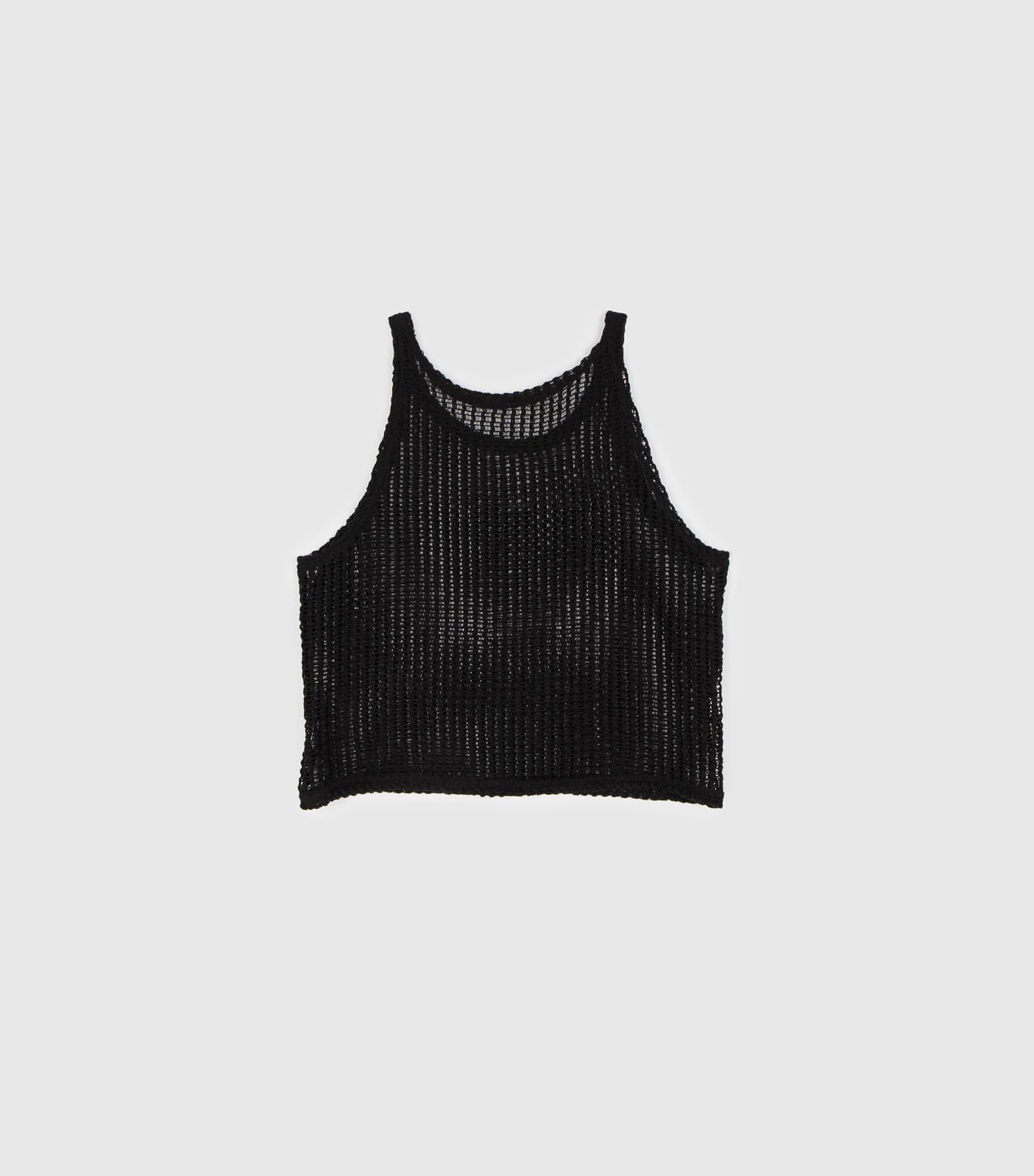 Like net sleeveless knit