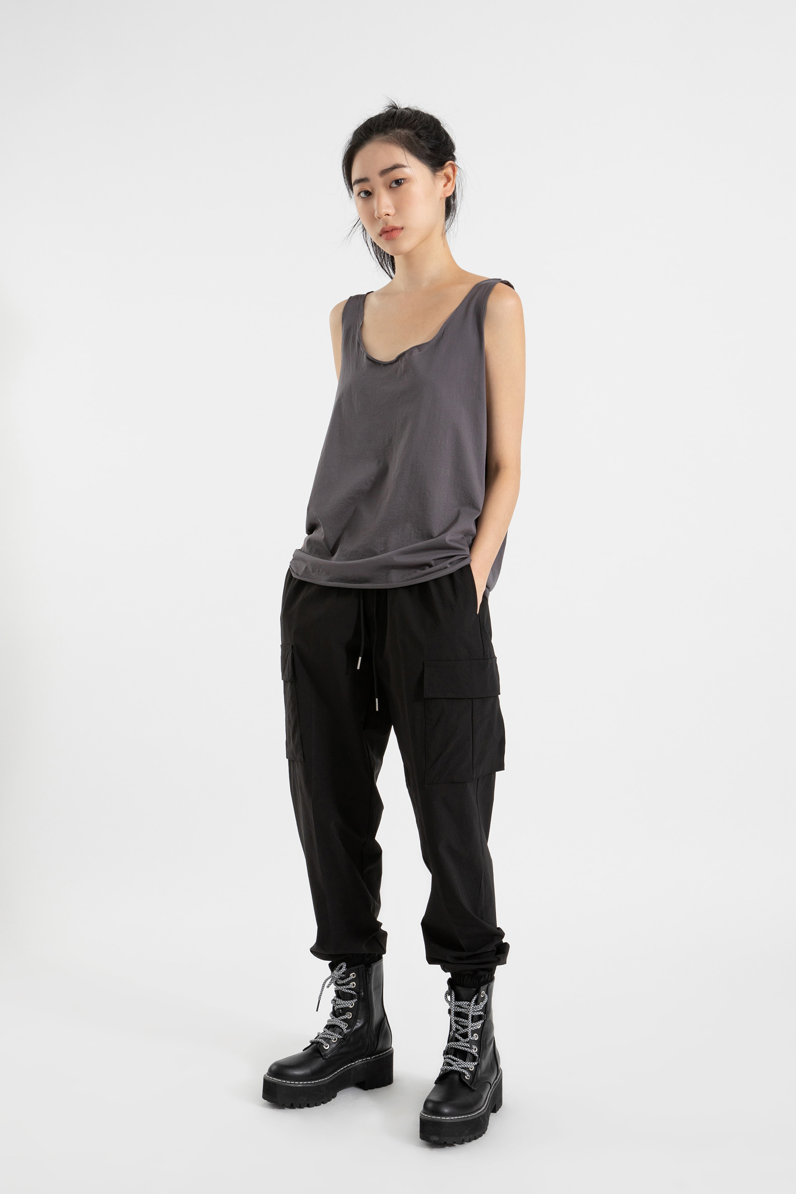 Summer nylon banding jogger pants