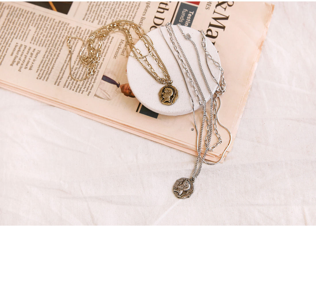 COIT 3 CHAIN LAYERED NECKLACE