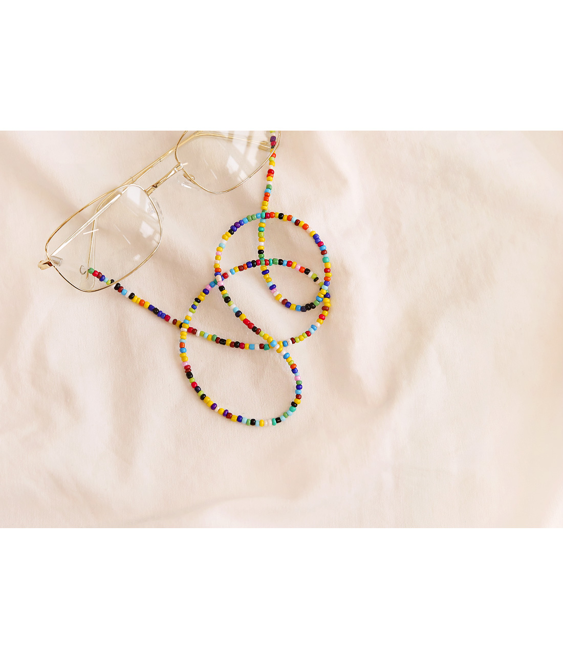 LEND COLOR BEADS GLASSES STRAP