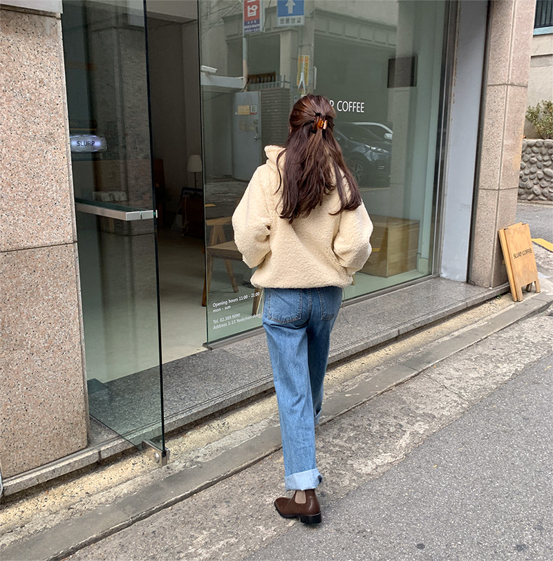 Lotus wide denim pants_J