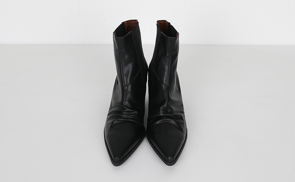 Official banding shirring ankle boots