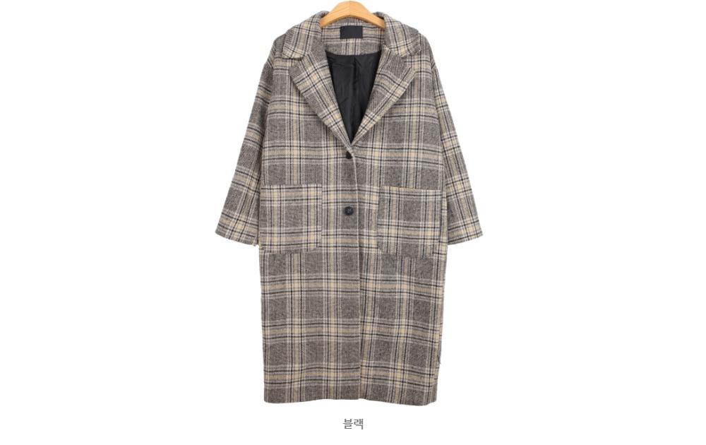 Vina check coat