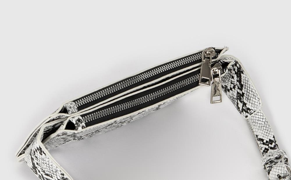 Python-pattern belt bag