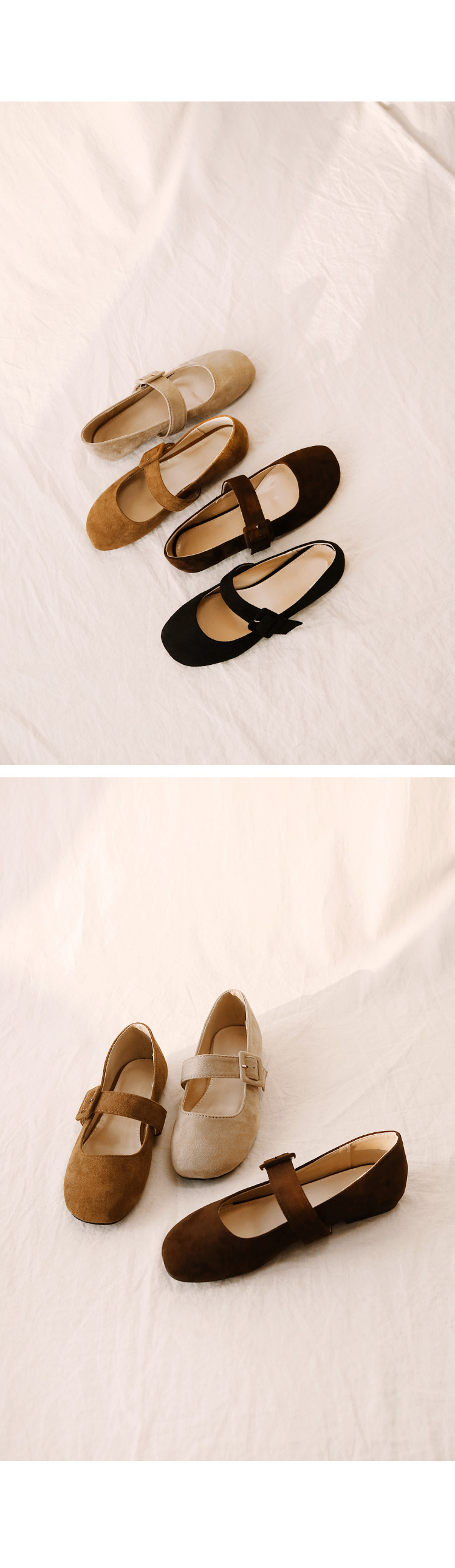 Buckled Strap Accent Velvety Loafers