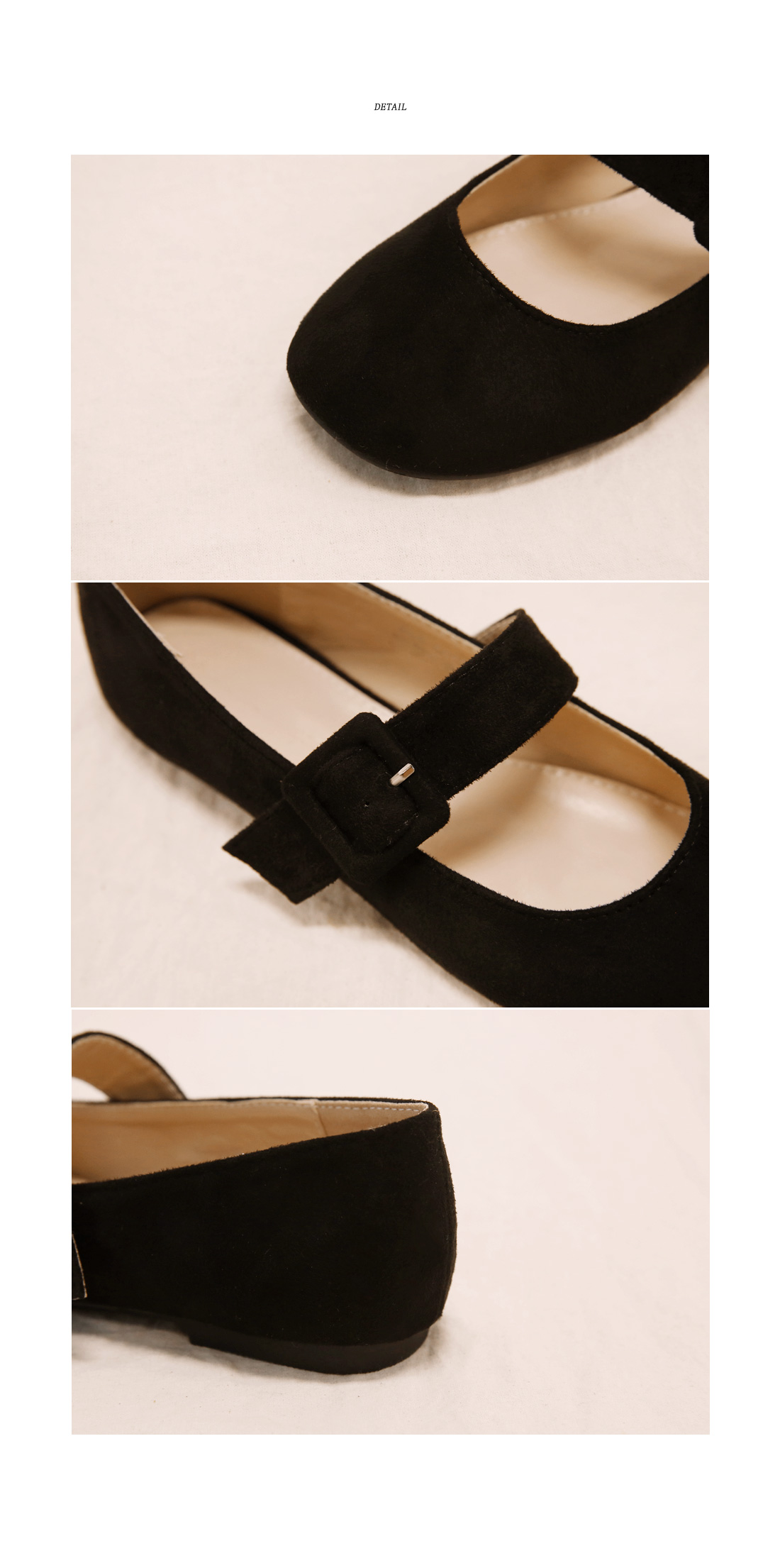 GIRLISH VELVET BUCKLE LOAFER