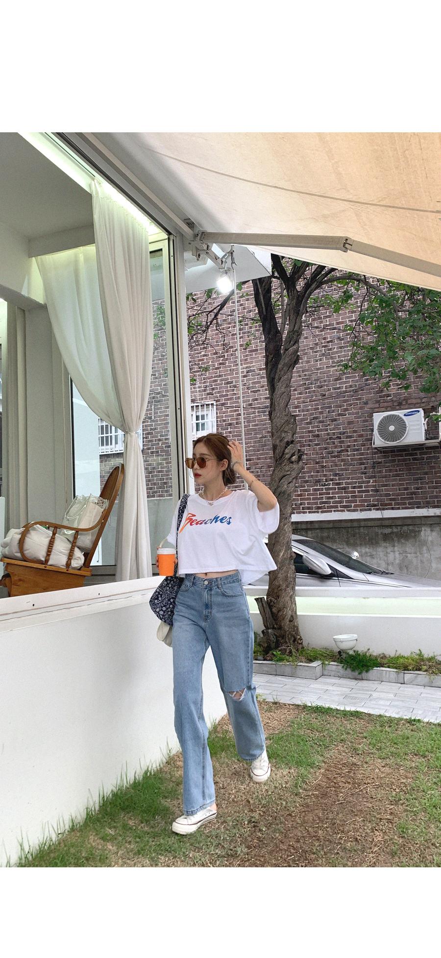 Rainbow Beach Cropped T-shirt
