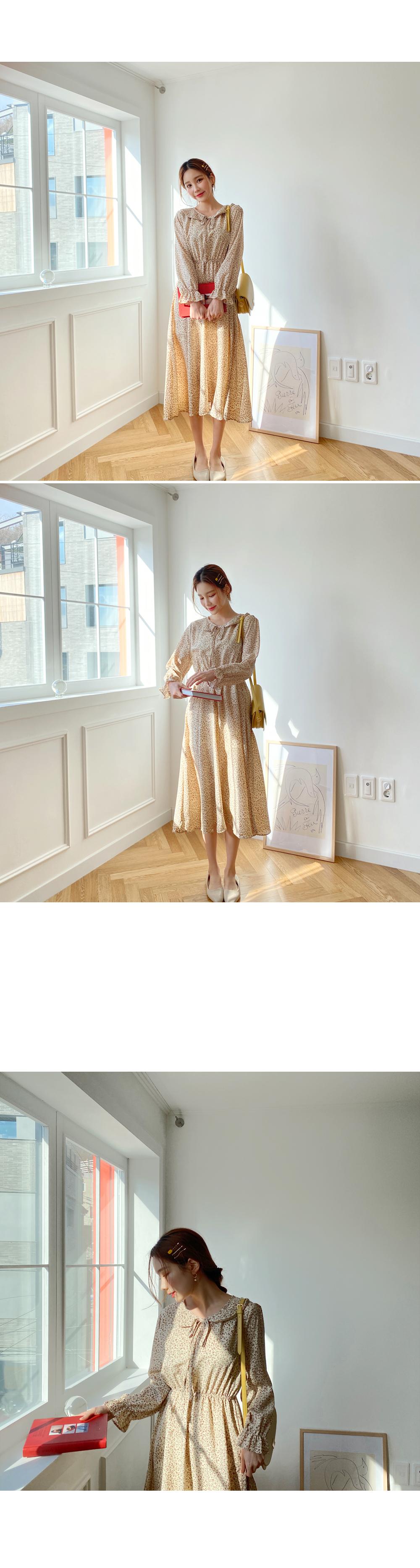 Flower Collar Dress