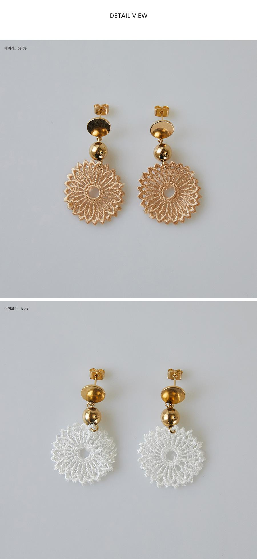 lace flower earring