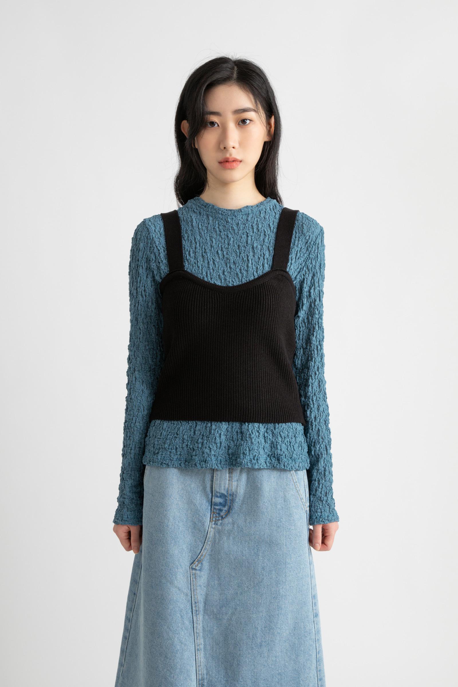 Dare wool-knit layered top