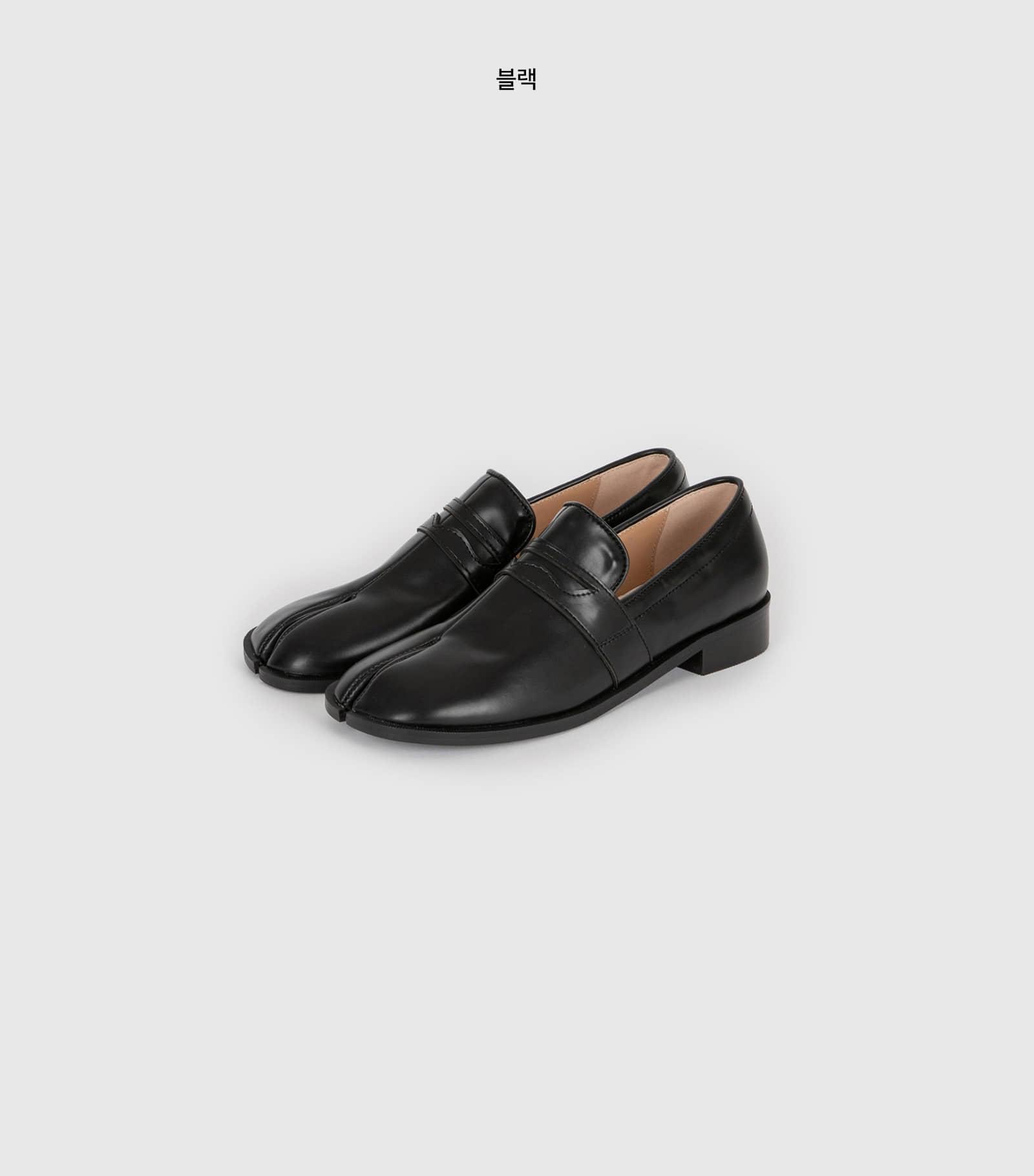 Tabi stitch loafers