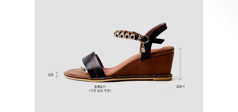 Le Meden Wedge strap sandals 6cm