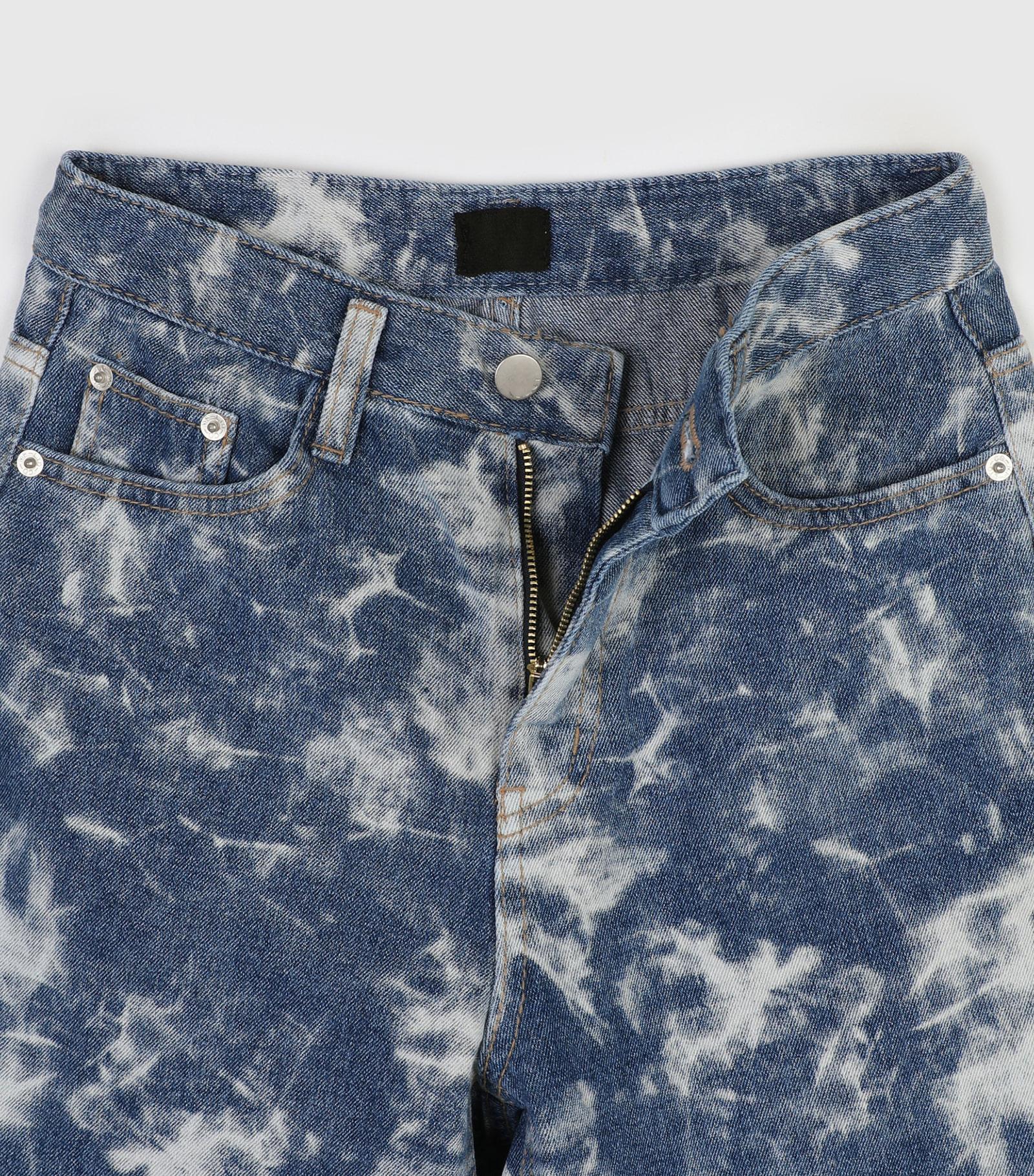 Draw tie-dye half jeans