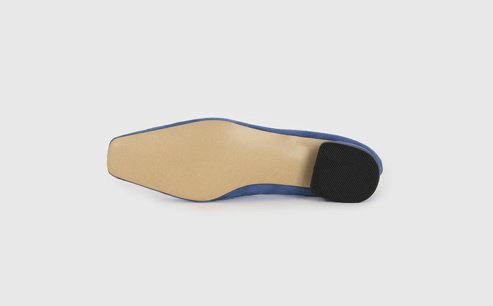 Butter suede low heel pumps
