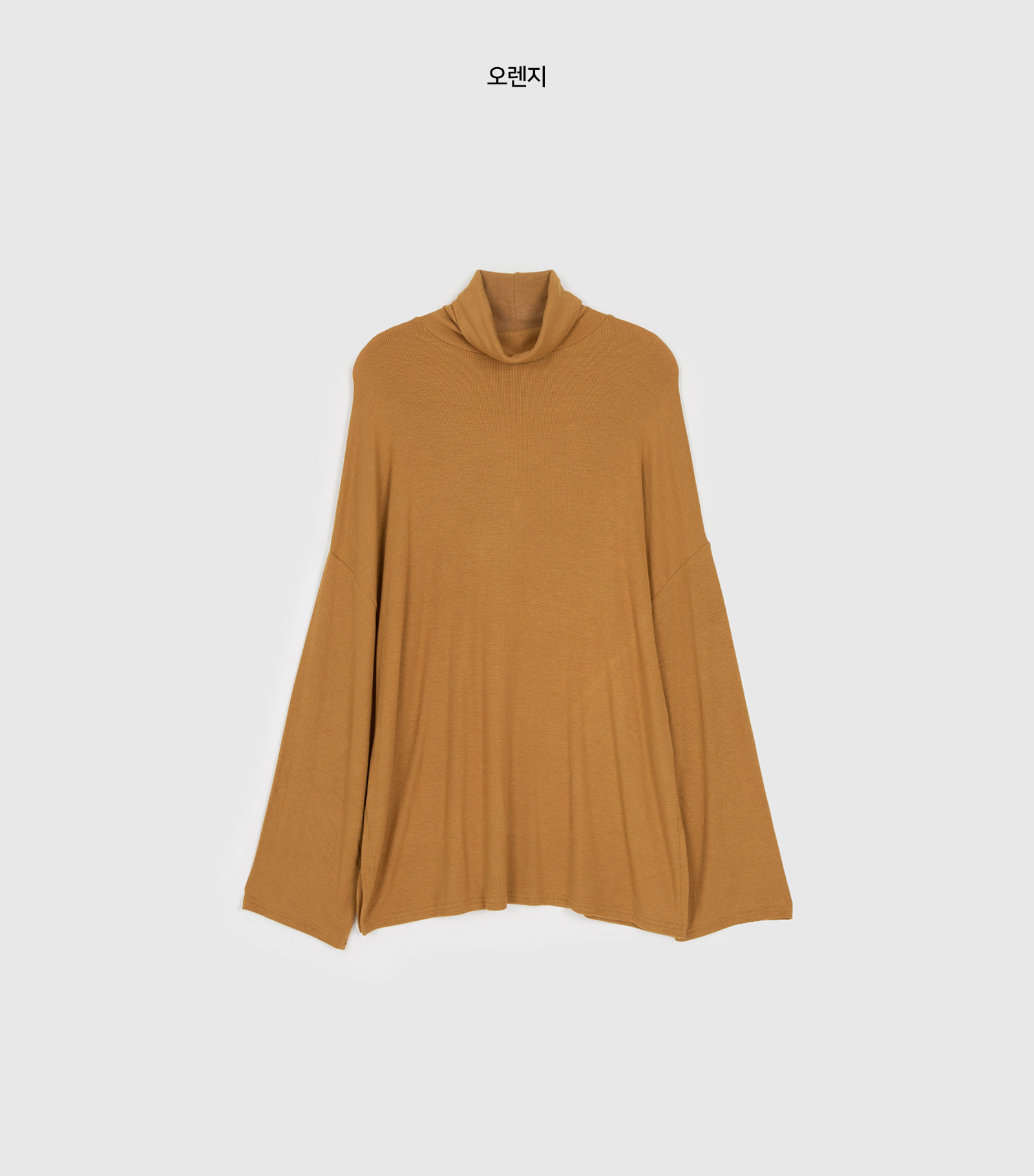 Over simple turtleneck T-shirt