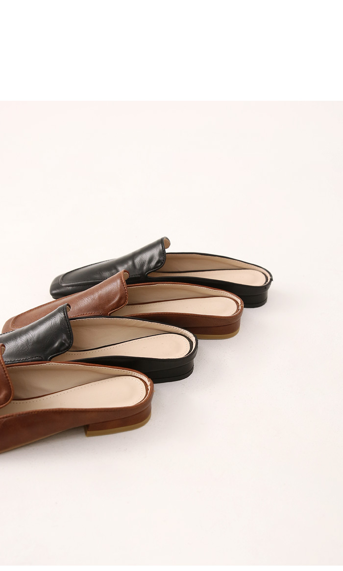 Square Toe Pleather Bloafers