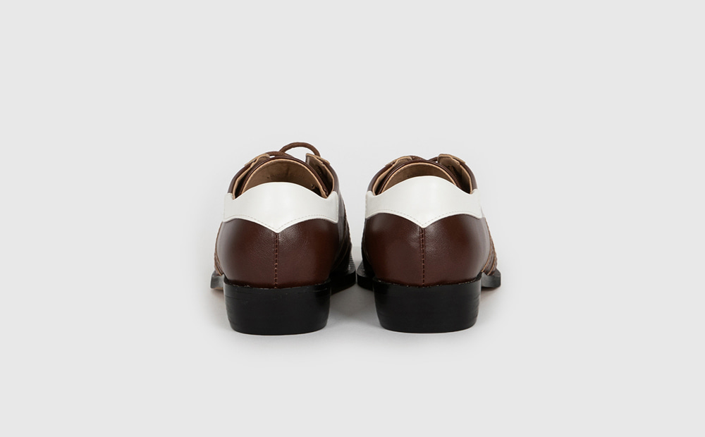 Dance square lace-up loafers