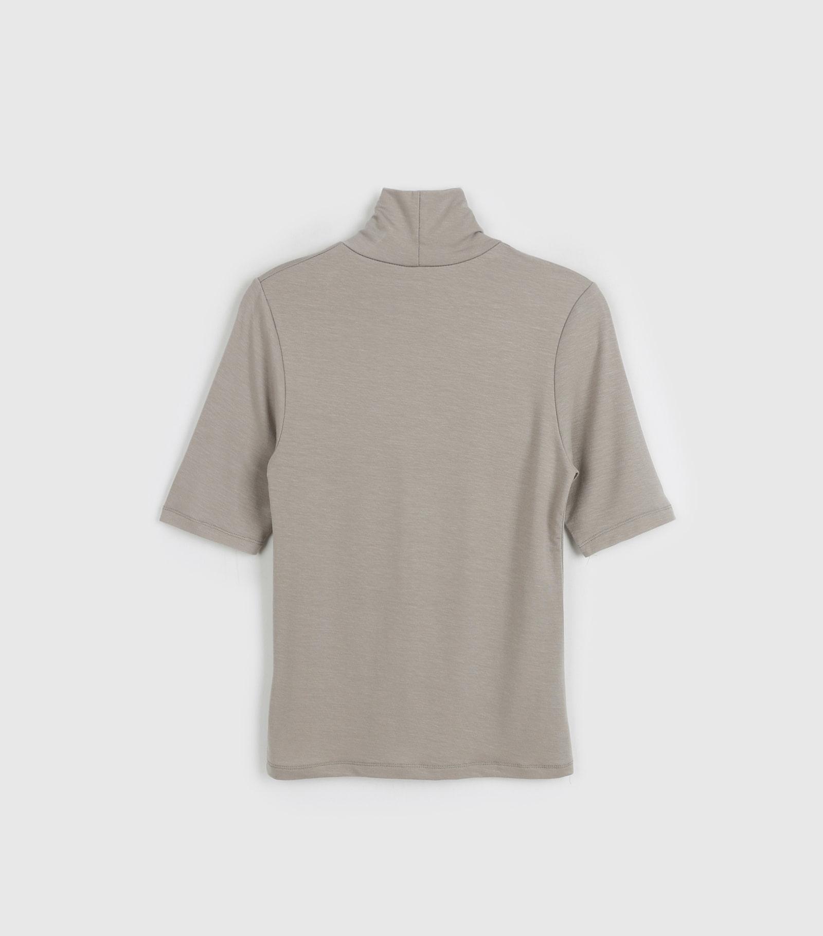 Half Tencel Turtleneck T-Shirt