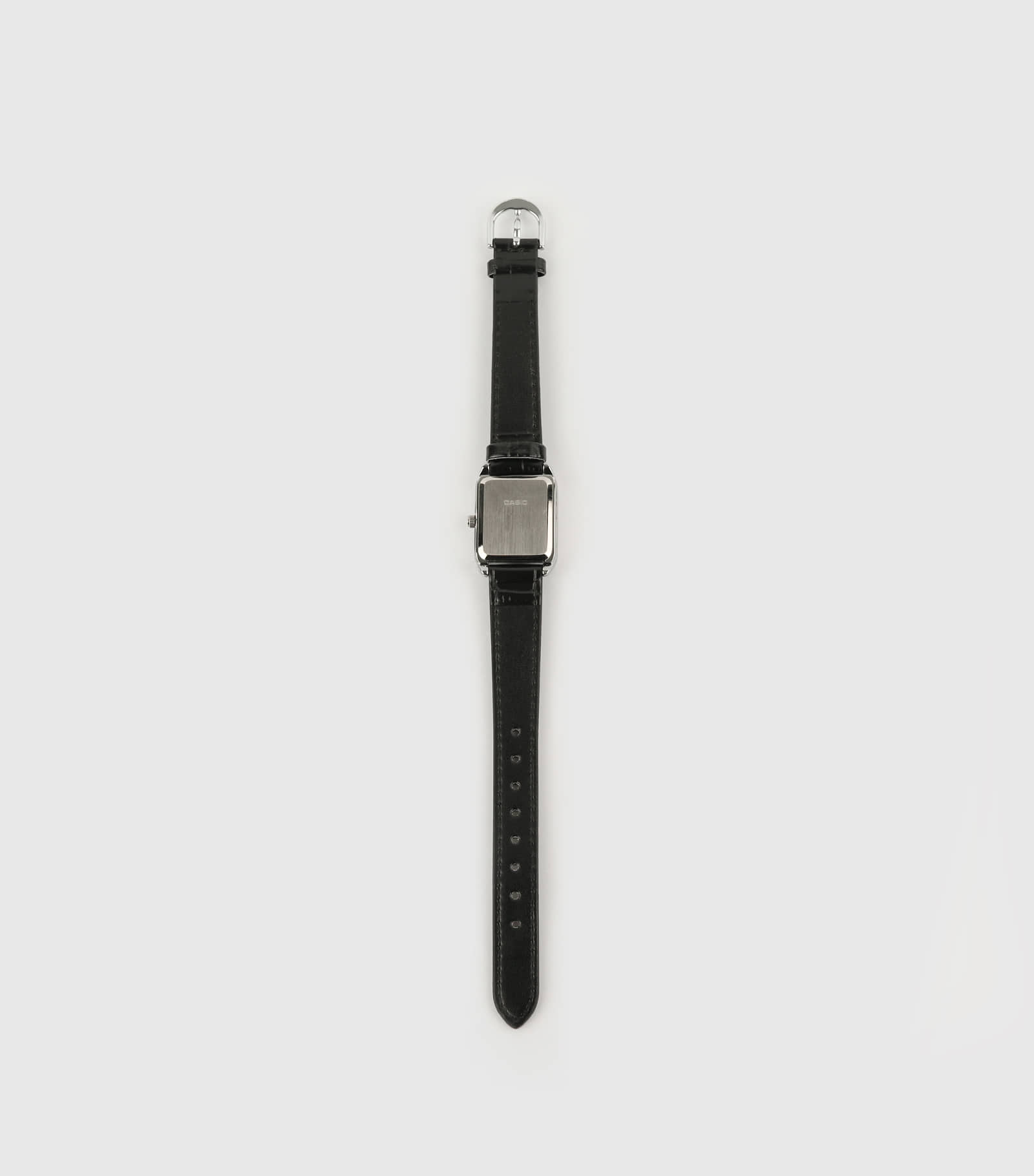 Minimalist black leather watch