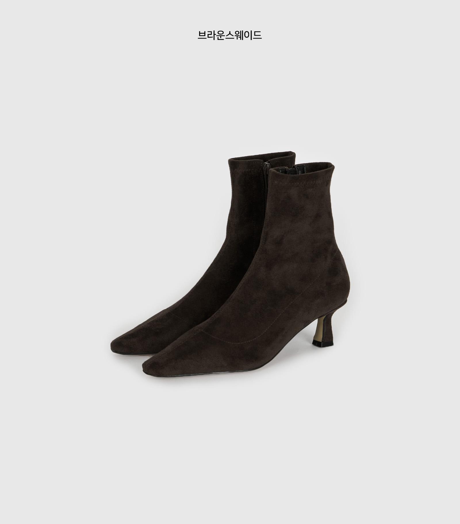 Tilda span middle heel ankle boots