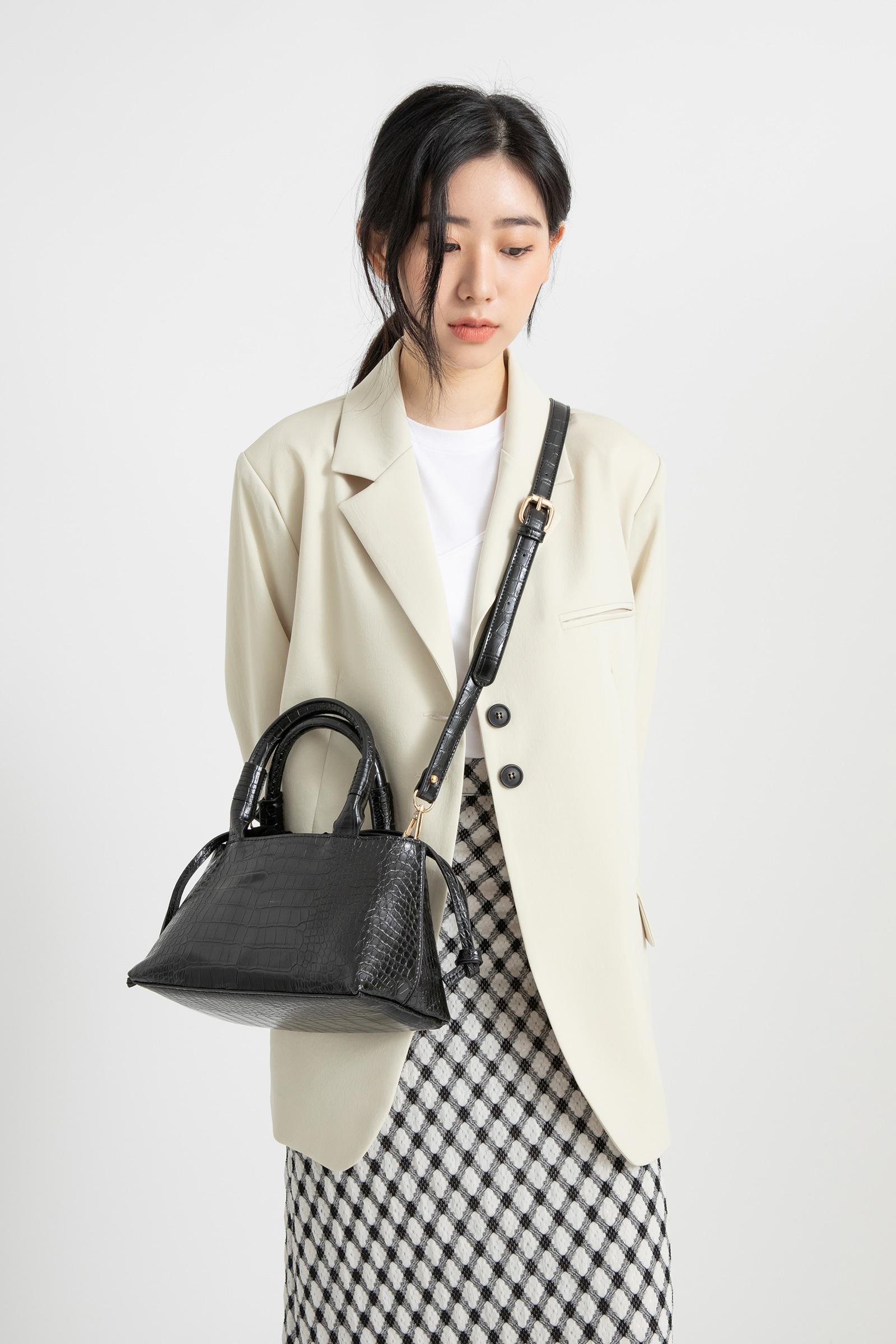 Rene Animal Pattern Two-way Tote Bag