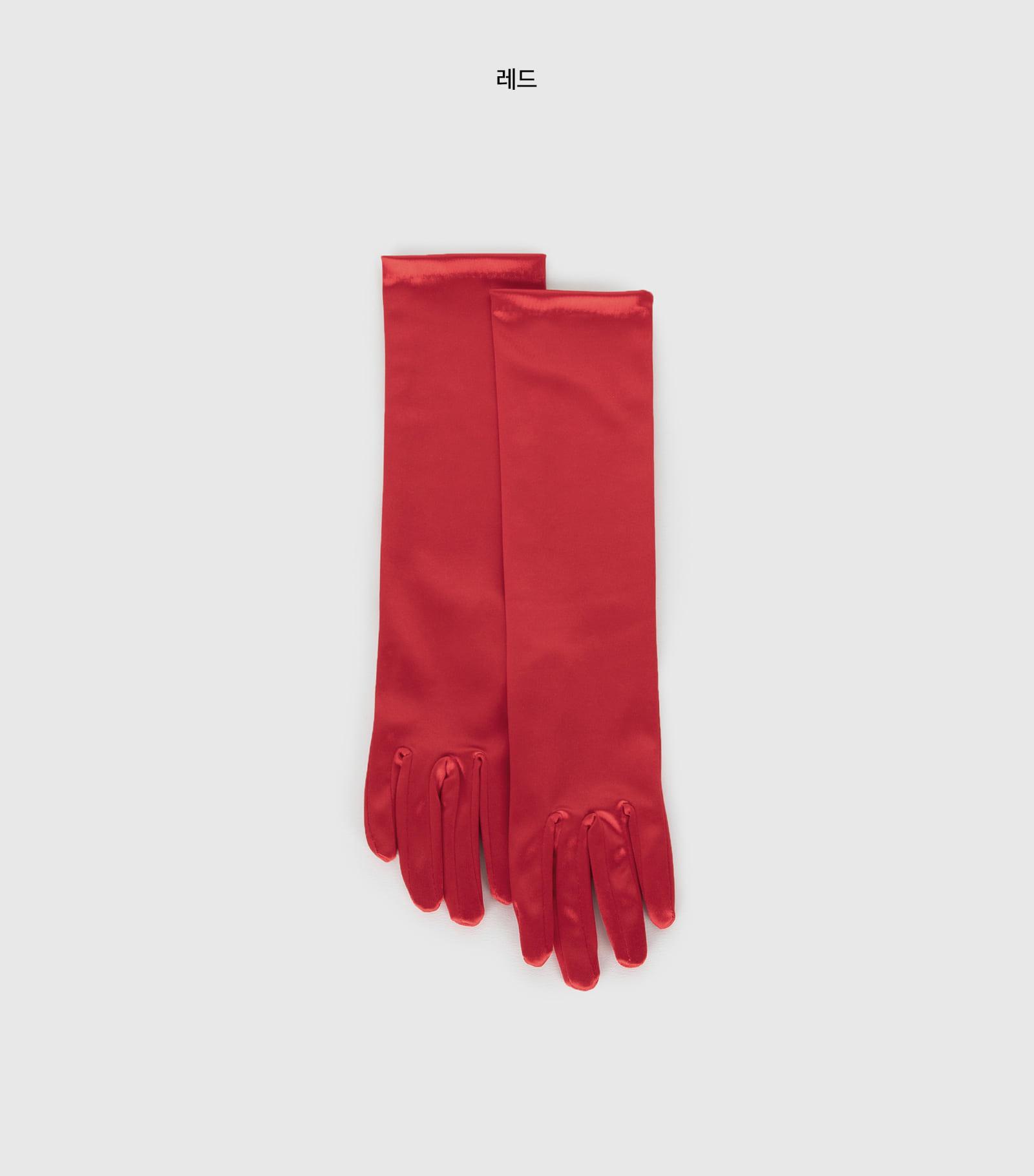 Satin long gloves