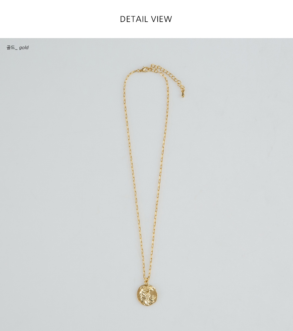 rose coin chain necklace