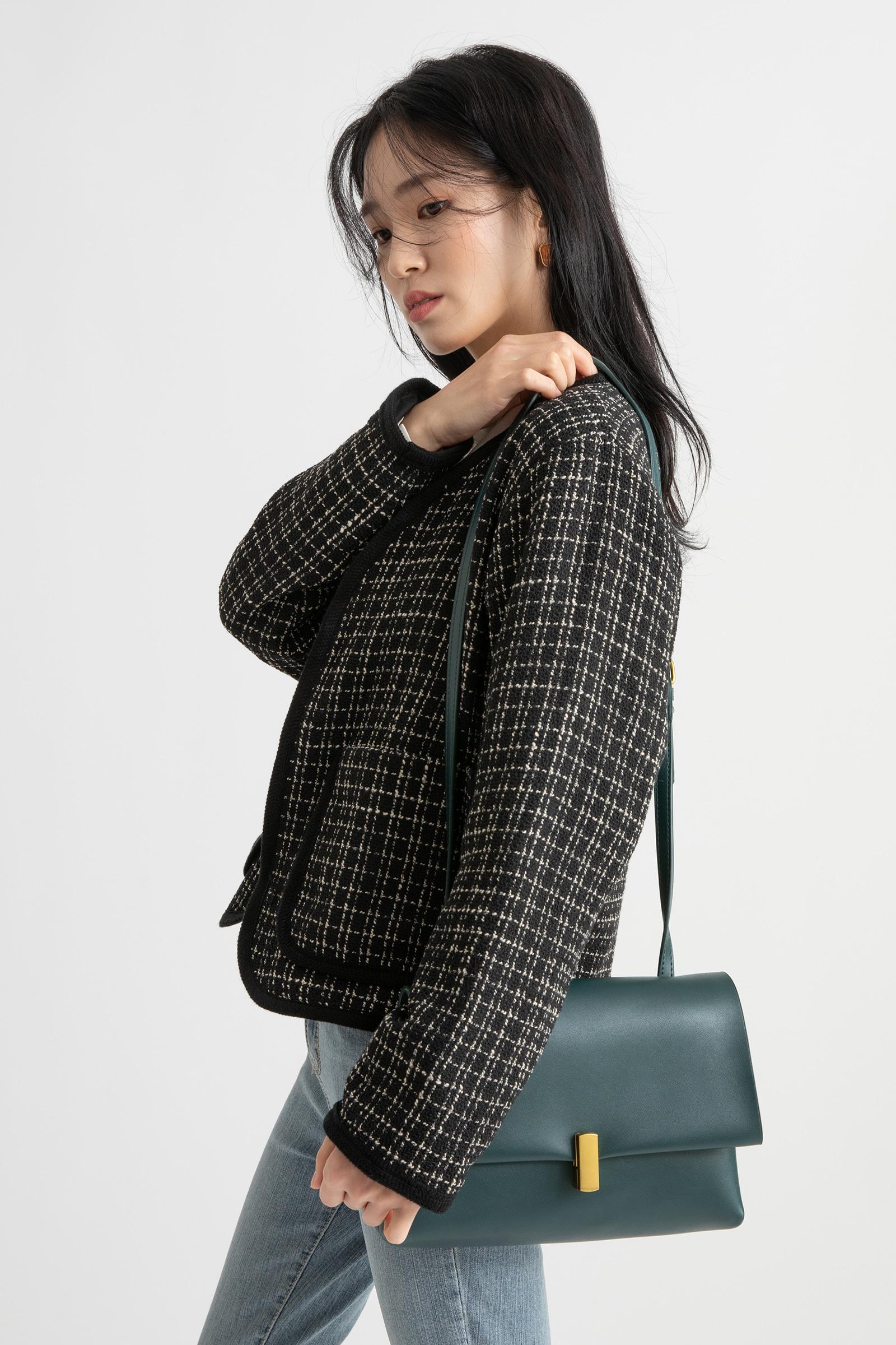Mood tone square cross shoulder bag