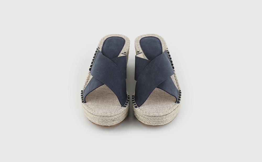 Beach suede wedge middle heel sandals