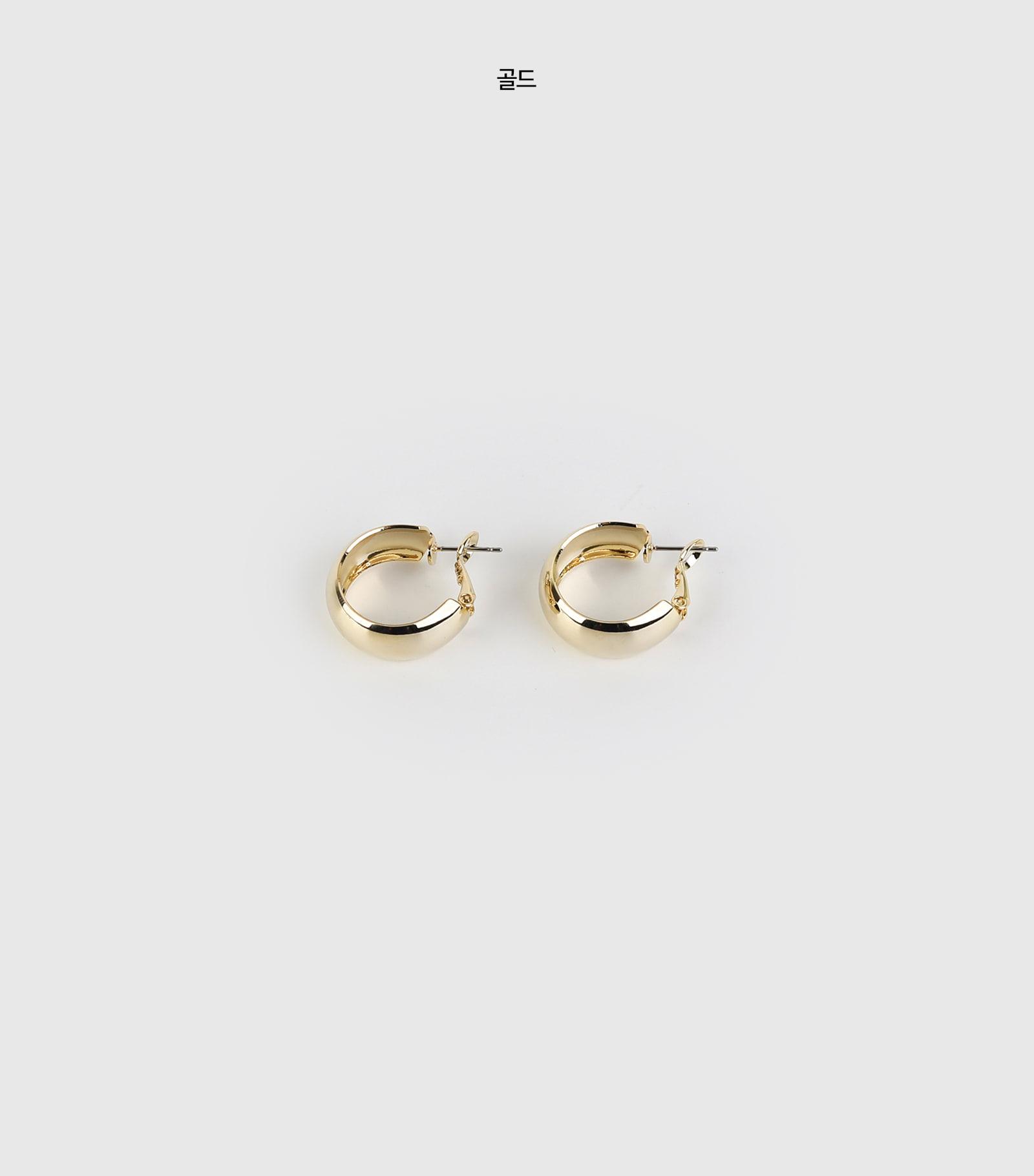 Simple shine earrings