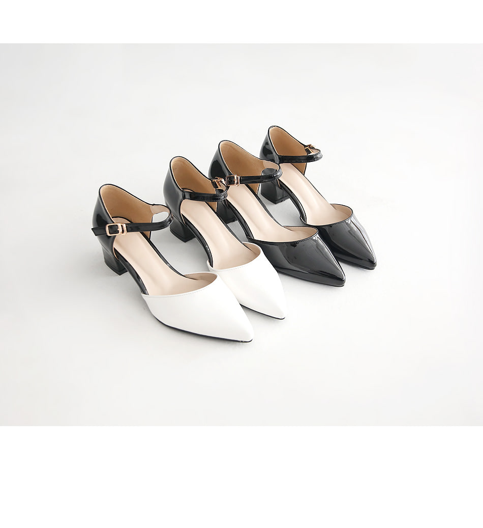 Koetsu Mary Jane Middle Heel Pumps 5cm