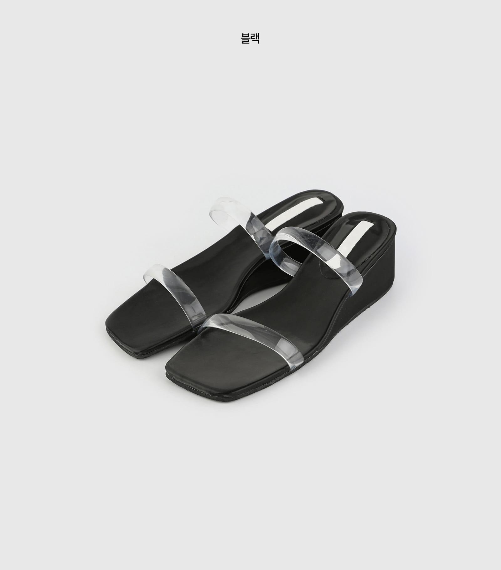 Summer binal wedge middle heel sandals