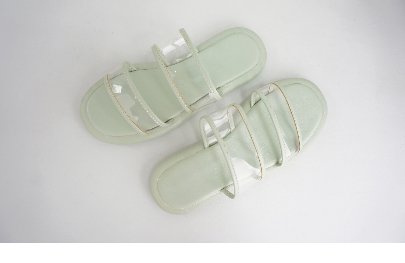 Pastel Kuning Transparent Slippers